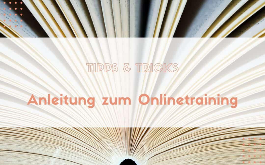Anleitung zum Onlinetraining
