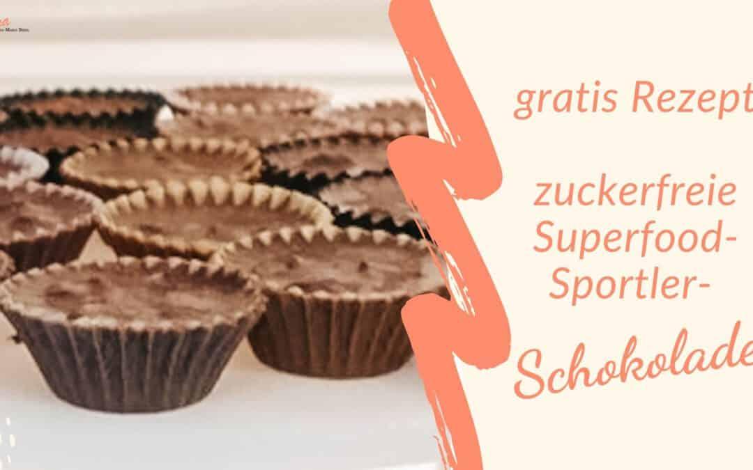 Rezept zuckerfreie Power-Schokolade