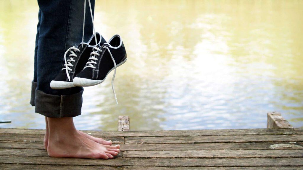 Blogbanner Rückenschonende Schuhe