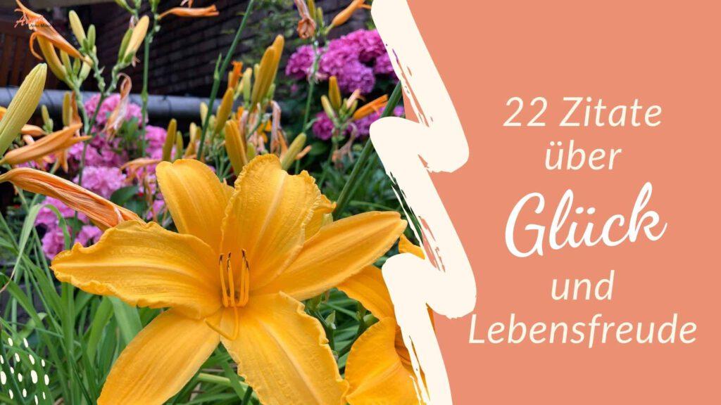 Blogbanner 22 Zitate über Glück
