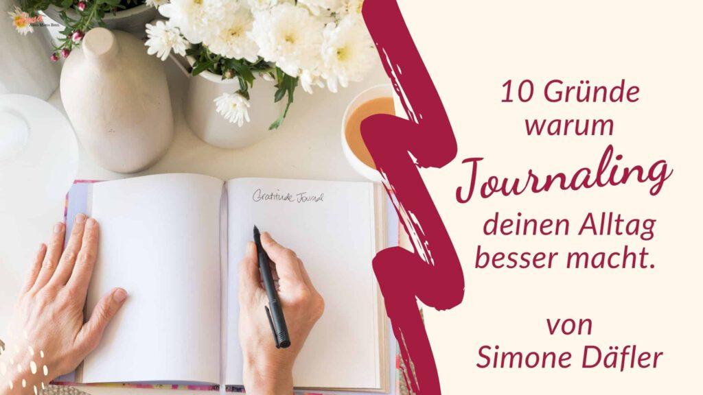 Blogbanner Gastartikel 10 Gründe für Journaling